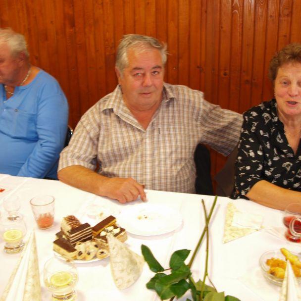 70 a 80 roční jubilanti - posedenie dňa 12.10.2017