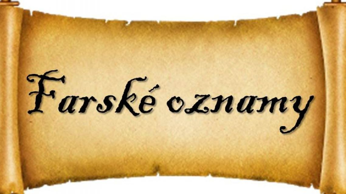 OZNAM FARSKÉHO ÚRADU