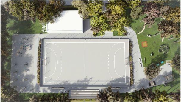 Budovanie zelenej infraštruktúry Hádzanárske ihrisko